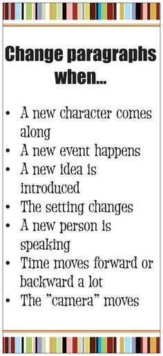 When to change paragraphs #writing