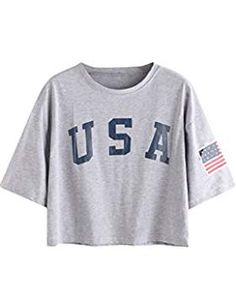 1d9b1ec5172 American Flag Letter Print Drop Shoulder Tee Size Chart  Sleeve M One  Sleeve Sleeve - Girly apparel