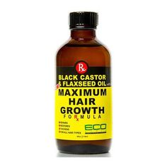 ECO Black Castor Oil & Flaxseed Oil Maximum Hair Growth 2 oz formula that repairs, restores, thickens and helps to promote hair growth. Castor Oil For Hair Growth, Hair Growth Shampoo, Vitamins For Hair Growth, Healthy Hair Growth, Hair Growth Oil, Best Hair Loss Treatment, Hair Growth Treatment, Spot Treatment, Black Castor Oil