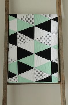 geometric baby quilt. by craftyblossom on Etsy