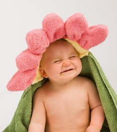 "Pink Flower ""Daisy"" Hooded Towel"