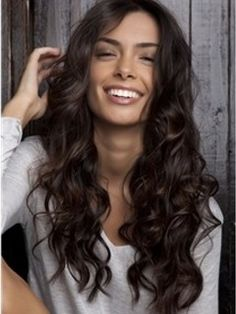 Smooth Elegante Loose Long Curly 100% Real Human Hair About 18 Inches Lace Front Wig Item # W5667  Original Price: $852.00 Latest Price: $194.09