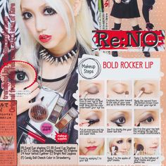 Bold Lip Rocker Makeup tutorial from the February 2013 issue of Kera. Starring Re:NO.