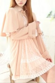 Cape Style One Button Trench Coat
