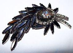 Juliana Brooch Pin Confirmed D&E Black Ice by BrightgemsTreasures, $74.50