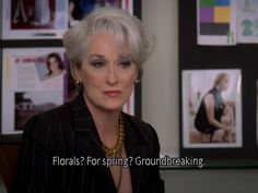 Miranda Priestly from Devil Wears Prada www.lightlayerproductions.com #CharactersWeLove #womeninfilm #merylstreep