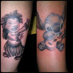My lilo and stitch tattoo #disneysleeve tattoo by earl. .at born to lose
