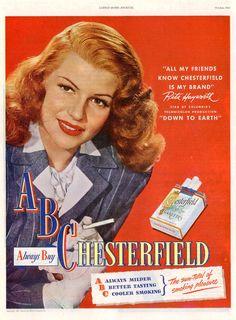 Chesterfield cigarette ad
