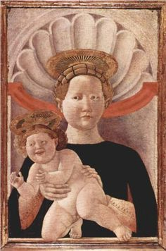 Madonna - Paolo Uccello.  c.1445.  Tempera on panel.  57 x 33 cm.  National Gallery of Ireland, Dublin, Ireland.