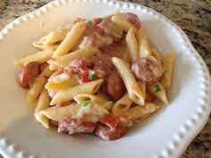 One dish sausage pasta. Can't beat a delicious and easy one pot meal!