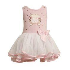 Bonnie Jean Baby Girls Easter Lamb Tutu Dress , Pink , 2T – 4T
