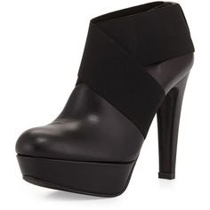 Stuart Weitzman Kilgore Leather Ankle Bootie ($319) ❤ liked on Polyvore featuring shoes, boots, ankle booties, black, black booties, black leather booties, black high heel boots, high heel booties and ankle boots