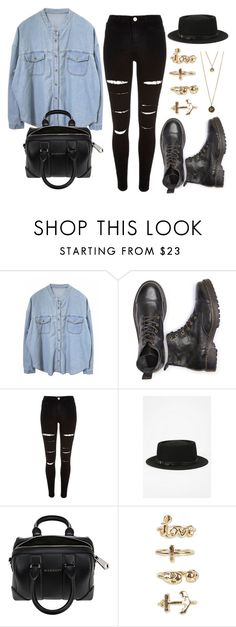 """""""Style #11255"""" by vany-alvarado ❤ liked on Polyvore featuring River Island, Deena & Ozzy, Givenchy and NLY Trend"""