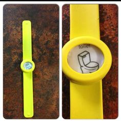 Adapt a slap band watch if child is unable to sign bathroom