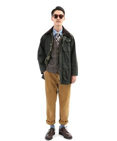 EDIFICE(エディフィス)の「BARBOUR/OLD BEDALE JK(EXCLUSIVE)(ブルゾン)」です。このアイテム着用のコーディネートをチェックすることもできます。 Asian Men Fashion, Tokyo Fashion, Suit Fashion, Mens Fashion, Barbour Wax Jacket, Barbour Mens, Hip Hop Outfits, Cool Outfits, Military Looks