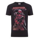 Geek Clothing Marvel Mens Deadpool Logo T-Shirt - Black - S Bring out your inner super-villain with this Marvel Mens Deadpool Logo T-Shirt. Crafted from soft cotton, this regular fit T-Shirt is officially licensed and finished with a stylised print on the fron http://www.MightGet.com/january-2017-11/geek-clothing-marvel-mens-deadpool-logo-t-shirt--black--s.asp