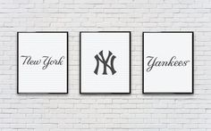 Hey, I found this really awesome Etsy listing at… New York Yankees Baseball, Yankees Fan, Yankees Nursery, Baseball Nursery, Baseball Bathroom, New York Theme, Baby Boy Rooms, Light Switch Covers, Typography Poster