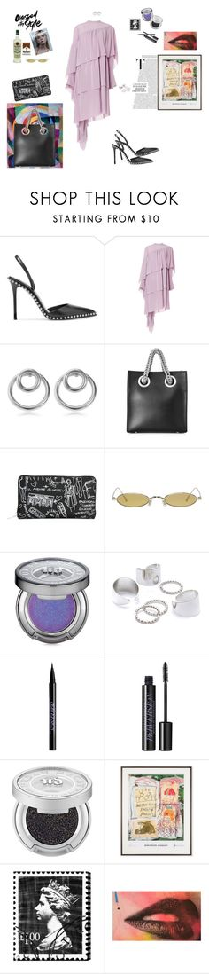 """punk 70s"" by waveoftenderness ❤ liked on Polyvore featuring Alexander Wang, Petar Petrov, Balenciaga, Gentle Monster, Urban Decay and Oliver Gal Artist Co."