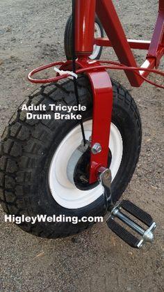 Adult size tricycle with front drum brake. Kids Bicycle, Bike, Three Wheel Bicycle, Adult Tricycle, 3rd Wheel, Drum Brake, Drums, Phone, Easy