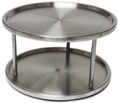 Genial Lazy Susan Stainless Steel   2 Tier Design Turntable  By Metro Fulfillment  House