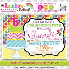 Cake Decorating Party Invitation