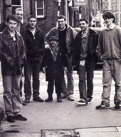 The Happy Mondays in 1987. This was taken several years before they broke into the main stream. The band would have just released their album Squirrel and G-Man Twenty Four Hour Party People Plastic Face Carnt Smile (White Out). Even so, the band had been together for 7 years when this picture was taken.