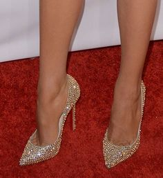 Blake Lively Struts in Christian Louboutin 'Pigalle Strass' Pumps
