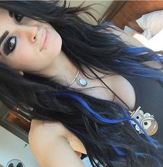 Wwe Paige. Luv her new blue hair
