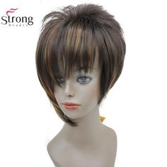 Fei-show Medium Wavy Wig Synthetic Heat Resistant Fiber Inclined Bang Cos-play Hair Costume Peruca Party Picture Color Hairpiece Exquisite Craftsmanship; Synthetic None-lacewigs