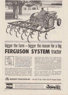 Vintage 1963 MASSEY FERGUSON 65 TRACTOR Advertisement #Masseyferguson #Advertisement