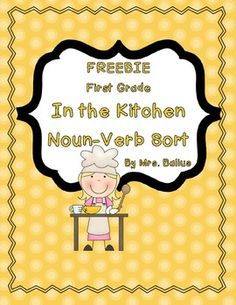 FREEBIE!!  Noun - Verb sort.