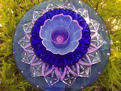 Glass Flower Garden Art | Glass Flower Garden Art Hand Painted - Suncatcher - Lawn Ornament ...