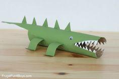 herbstbasteln mit kindern herbstdeko selber machen basteln mit klopapierrollen krokodile