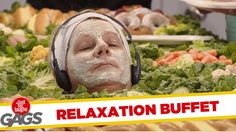 Spa Clients Become Buffet Centerpiece- Throwback Thursday - Funny Video Dose Thursday Funny, Throwback Thursday, Getting A Massage, Funny Gags, Full Episodes, Laughing So Hard, Buffet, Centerpieces, Spa