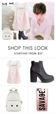 """""""""""Don't Recall"""" // Vernon"""" by joanaamarinho ❤ liked on Polyvore featuring H&M, Anya Hindmarch, Casetify, kpop, seventeen and vernon"""