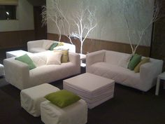 white couches and trees by Celadon Events, via Flickr