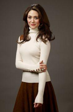 Emmy Rossum Shirtdress - Emmy Rossum Looks - StyleBistro