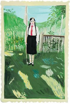 Maira Kalman Girls Standing on Lawns inspiration