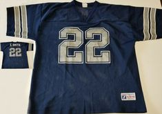 2acadac149d Vintage Emmitt Smith Dallas Cowboys Football Jersey Blue Shirt Men XL Logo  7 NFL #Logo7 #DallasCowboys