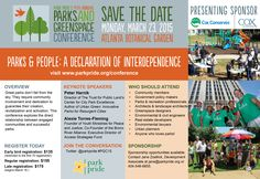If you love parks and greenspaces, you should attend Park Pride's 14th Annual Parks and Greenspace Conference on 3/23/15. Piedmont Park Conservancy will be there. www.parkpride.org/conference