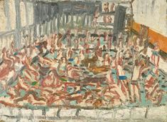 Leon Kossoff's 'Children's Swimming Pool' belongs to Birmingham Museums collection