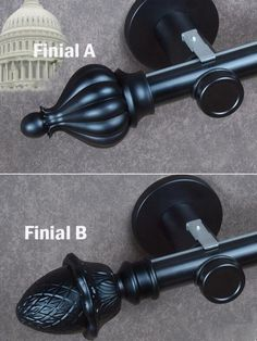 diameter bring more strong bearing capacity. Metal brackets brings more safety wall mount installation. There are many Curtain rod finials for you choose, such as ball finial, cone finial, crystal finial, etc. Finials For Curtain Rods, Curtain Poles, Custom Curtains, Drapes Curtains, Wall Mount, Safety, Window, Strong