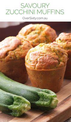 Savoury Zucchini Muffins Recipe - a healthy, delicious snack or brunch idea.
