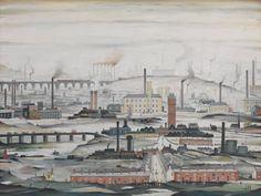 Ο πίνακας είναι ζωγραφισμένος από τον L.S.Lowry το 1955 ο οποίος ονομάζεται Industrial Landscape, και αν και έχει φανταστικές συνθέσεις κάποια τοπία είναι πραγματικά. Σε γενικές γραμμές η εικόνα παρουσιάζει μια γενικευμένη εικόνα του αστικού περιβάλλοντος, που κυριαρχείται από το κάπνισμα καμινάδων, τα εργοστάσια, τους δρόμους, τις γέφυρες και των εγκαταλελειμμένων βιομηχανικών εγκαταστάσεων. Επίσης θέλει να τονίσει την ανθρώπινη παρουσία σε αυτήν την συντριπτική, μαυρισμένα πόλη.