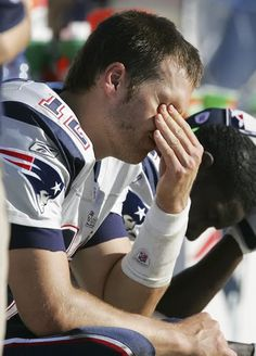 tom brady crying... what i hope they ravens will do to him this week! ;)