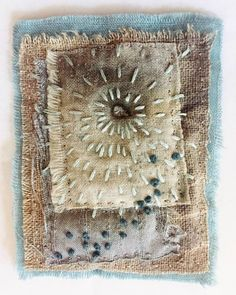 """Textile Art Quilts by Lynn Cohen """"Gossamer Spring"""" Sashiko Embroidery, Japanese Embroidery, Vintage Embroidery, Embroidery Art, Embroidery Stitches, Embroidery Patterns, Knit Patterns, Fabric Art, Fabric Crafts"""