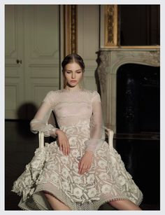 Sasha Luss | Valentino Haute Couture SS 2013 | by Gian Paolo Barbieri | Vogue Italia March 2013