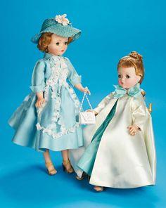 The Fabulous Fifties - Modern Dolls: 45 Cissy in Aqua Theatre Dress by Antique Dolls, Vintage Dolls, Antique Items, Fashion Dolls, Girl Fashion, Vintage Madame Alexander Dolls, Vintage Quilts, Antique Quilts, Waldorf Dolls