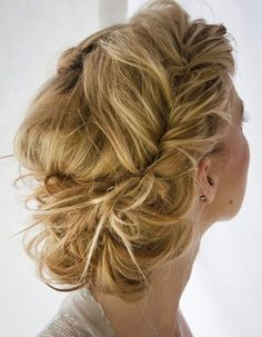 i love this.it's french fishtail braids the are kinda pulled apart (sorta) to make them messier looking.then put into a bun. Beautiful Hair and Makeup,Bridal Hair And Makeup,Hair,Hair & Beauty,Ha Chic Hairstyles, Pretty Hairstyles, Wedding Hairstyles, Wedding Updo, Prom Updo, Twisted Hairstyles, Summer Hairstyles, Homecoming Hairstyles, Romantic Hairstyles