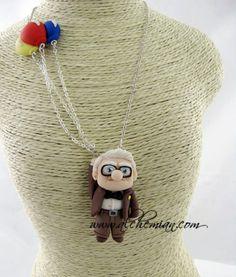 Carl Up Handmade Polymer Clay kawaii necklace by AlchemianShop
